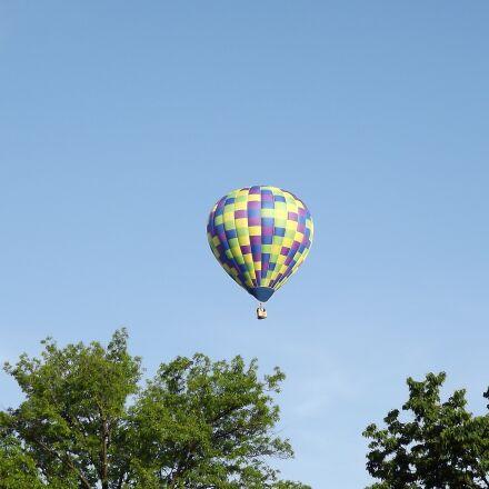 hot air balloon, sky, Fujifilm FinePix S3200