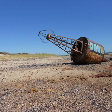 buoy, sea, beach, Nikon COOLPIX S2600