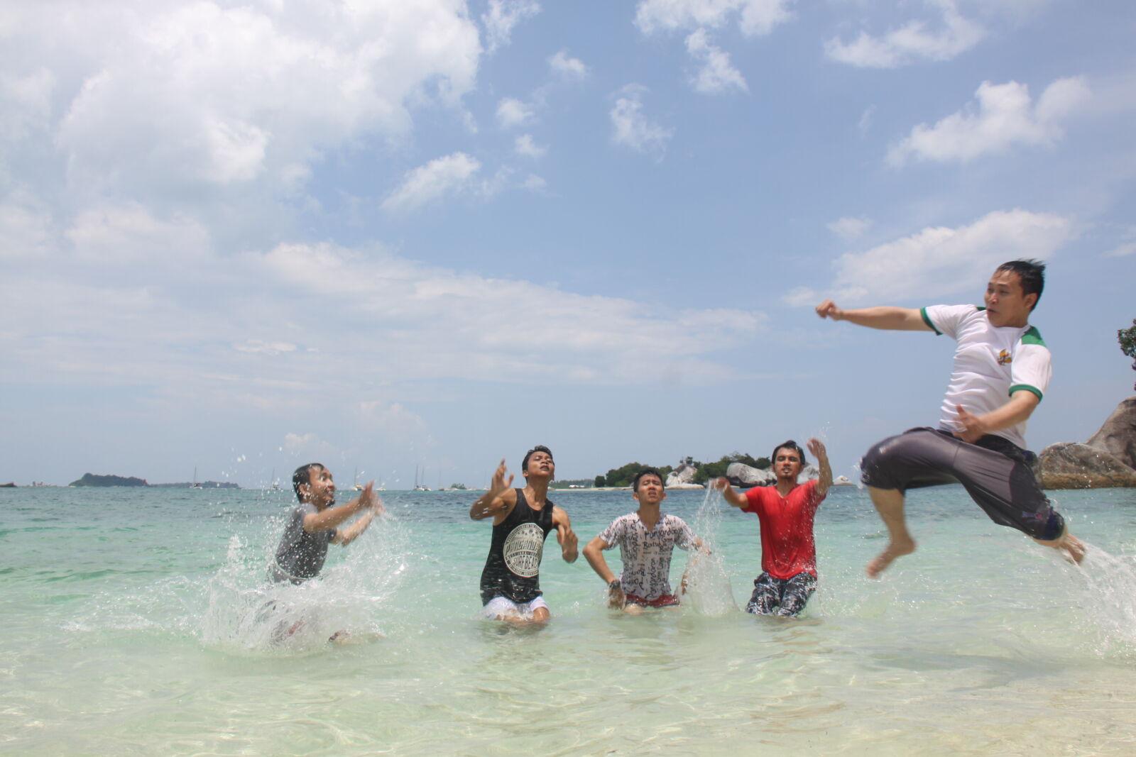 "Canon EOS 50D sample photo. ""Beach, belitung, blue, blue"" photography"