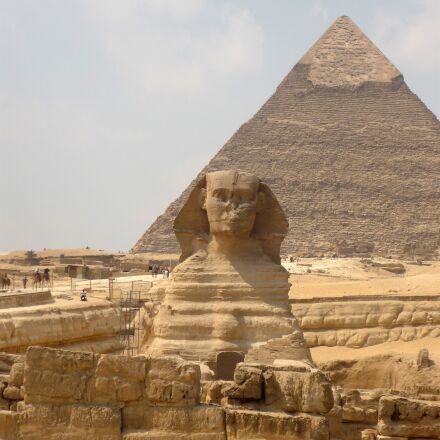 sphinx, pyramid, egypt, Panasonic DMC-FS3
