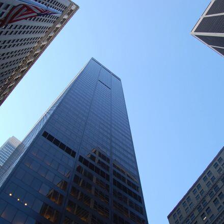 offices, buildings, downtown, reflection, Nikon D50