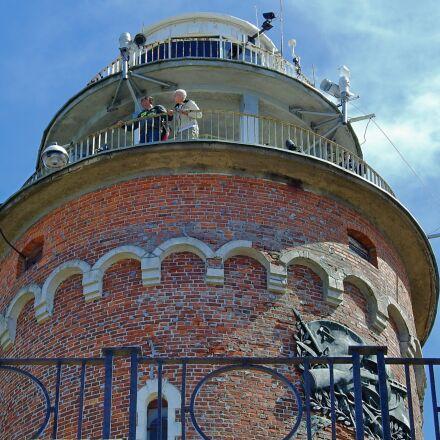 lighthouse, kołobrzeg, sea, Nikon COOLPIX P900