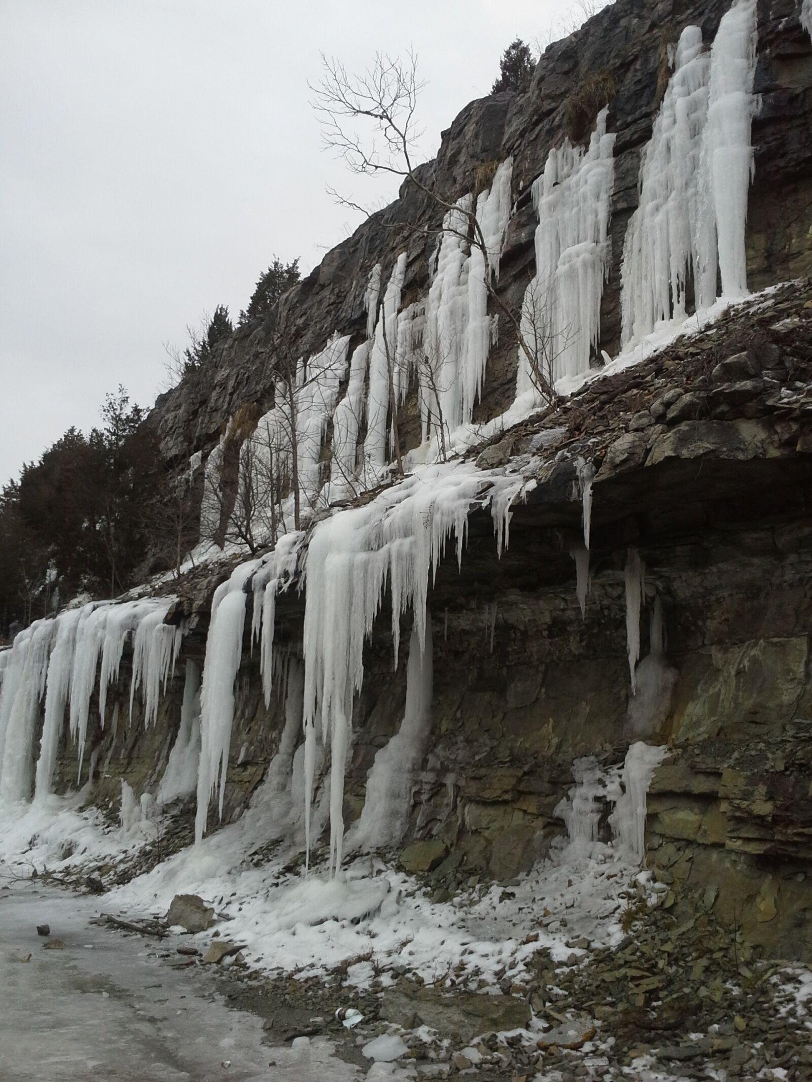 ice, nature, limestone