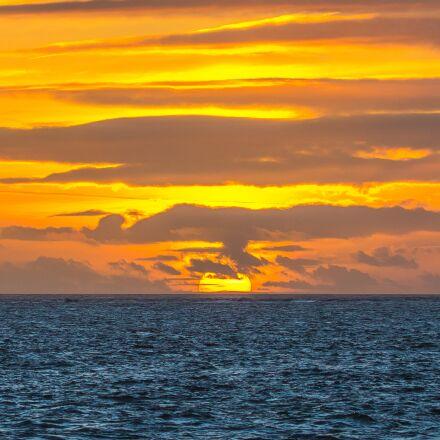 sunset, ocean, clouds, Canon EOS 60D
