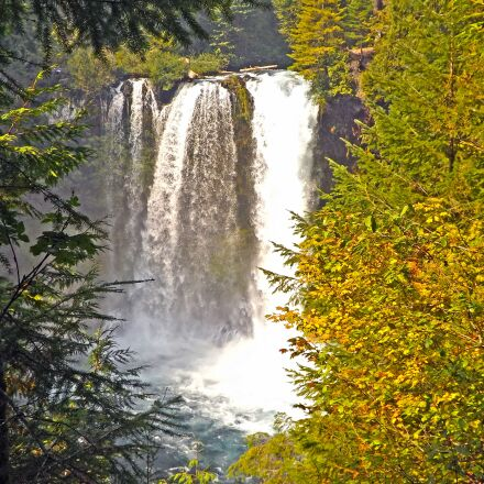 waterfalls, mckenzie river, oregon, Fujifilm FinePix S4500