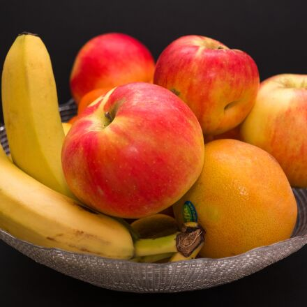 fruit, apple, banana, Fujifilm X-Pro2