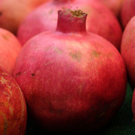 pomegranate, fruit, red, Fujifilm X-T20