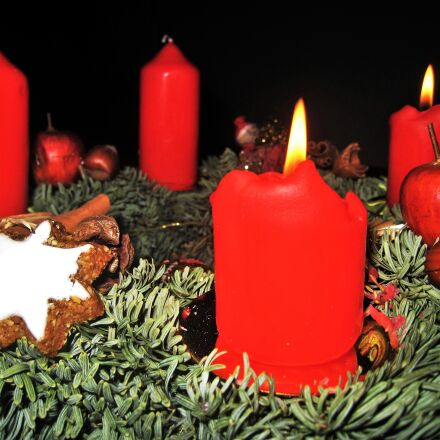 advent wreath, second advent, Canon DIGITAL IXUS 860 IS