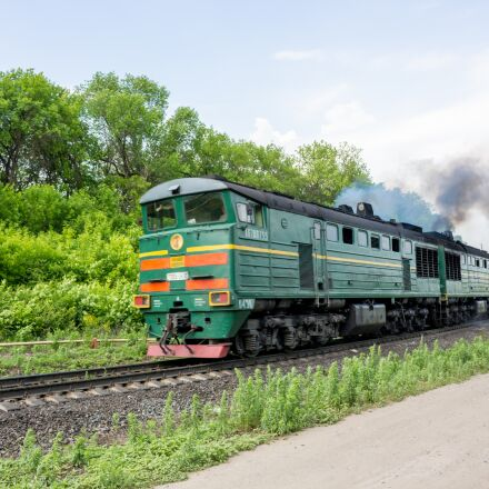 train, motion, smokes, Canon EOS 100D