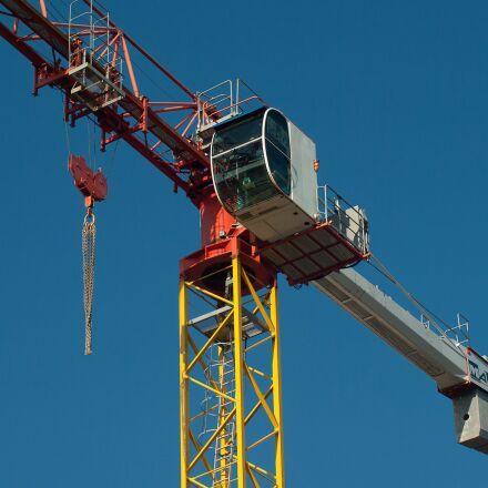 crane, site, building, Pentax K10D