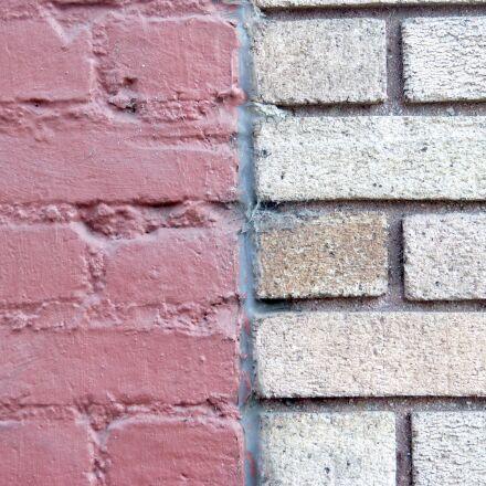 brick wall, brick background, Panasonic DMC-FZ60