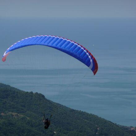 paragliding, gulf, silhouette, Panasonic DMC-TZ50