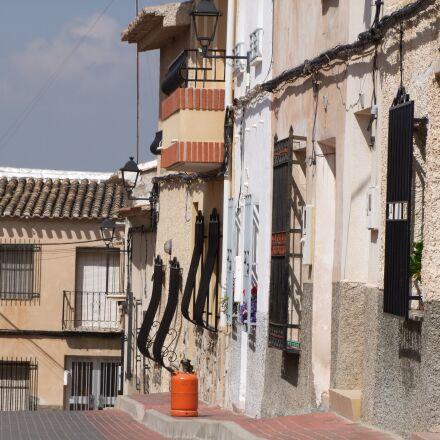 road, houses, mediterranean, Fujifilm FinePix S100FS