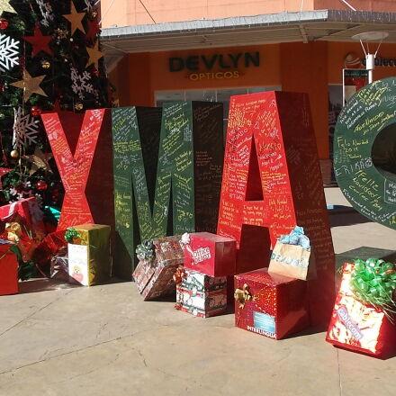 letras, mensaje, navidad, regalos, Fujifilm FinePix JX500