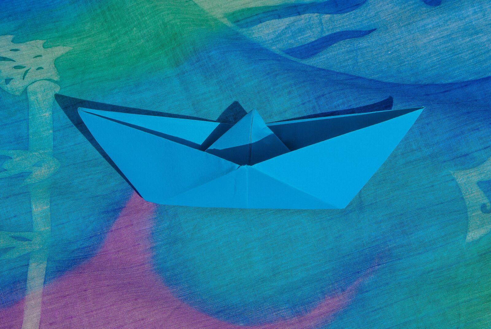 "Pentax K10D sample photo. ""Pareo, origami, boat"" photography"