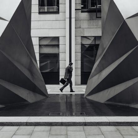 architecture, building, businessman, Fujifilm X100S