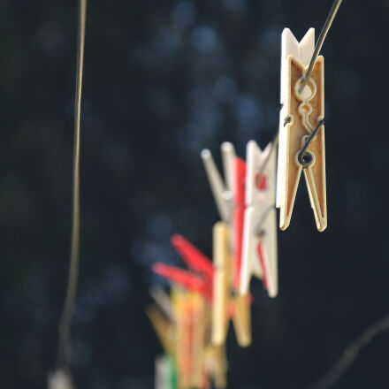 colors, outdoors, hanging, clothespins, Nikon D3300