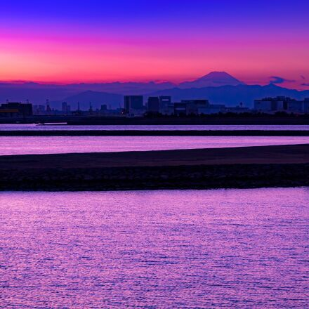mt fuji, sea, water, Pentax K-7