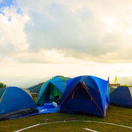 a tent, tour, nature, Canon EOS 550D