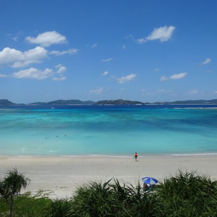 sea, beach, blue sky, Sony DSC-WX300