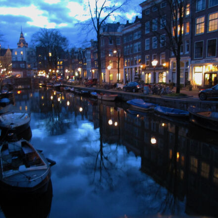 amsterdam, canal, night, time, Canon POWERSHOT ELPH 170 IS