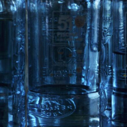 abstract, blue, glass, Nikon D90