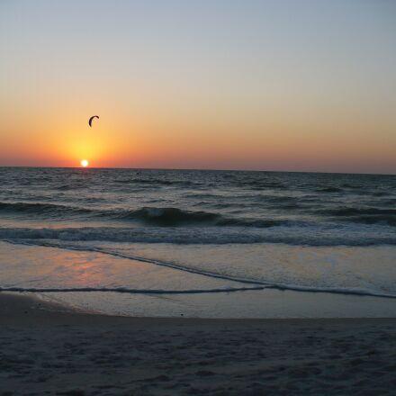 sunset, windsurfer, beach, Panasonic DMC-LZ7