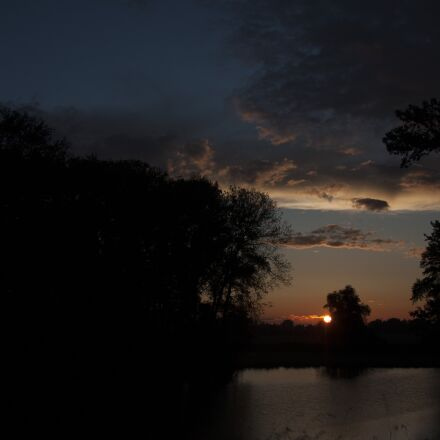 evening sun, nature, sunset, Canon EOS 40D