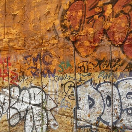 graffiti, wall, hauswand, Nikon COOLPIX L5
