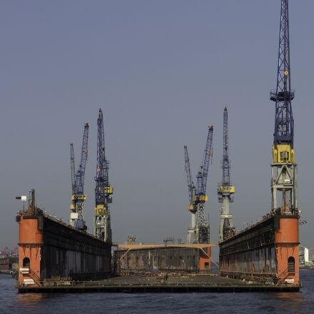 floating dock, hamburg, port, Panasonic DMC-G3