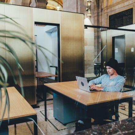 laptop, man, person, Fujifilm X-Pro1