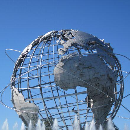 globe, park, unisphere, Canon POWERSHOT A1200