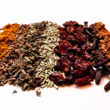 spices, barberry, basil, Fujifilm X-A2