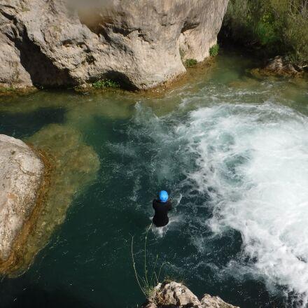 canyoning, canyoning basin, jump, Fujifilm FinePix XP80 XP81 XP85