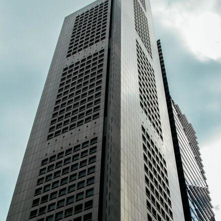 gray, concrete, building, under, Canon EOS 60D