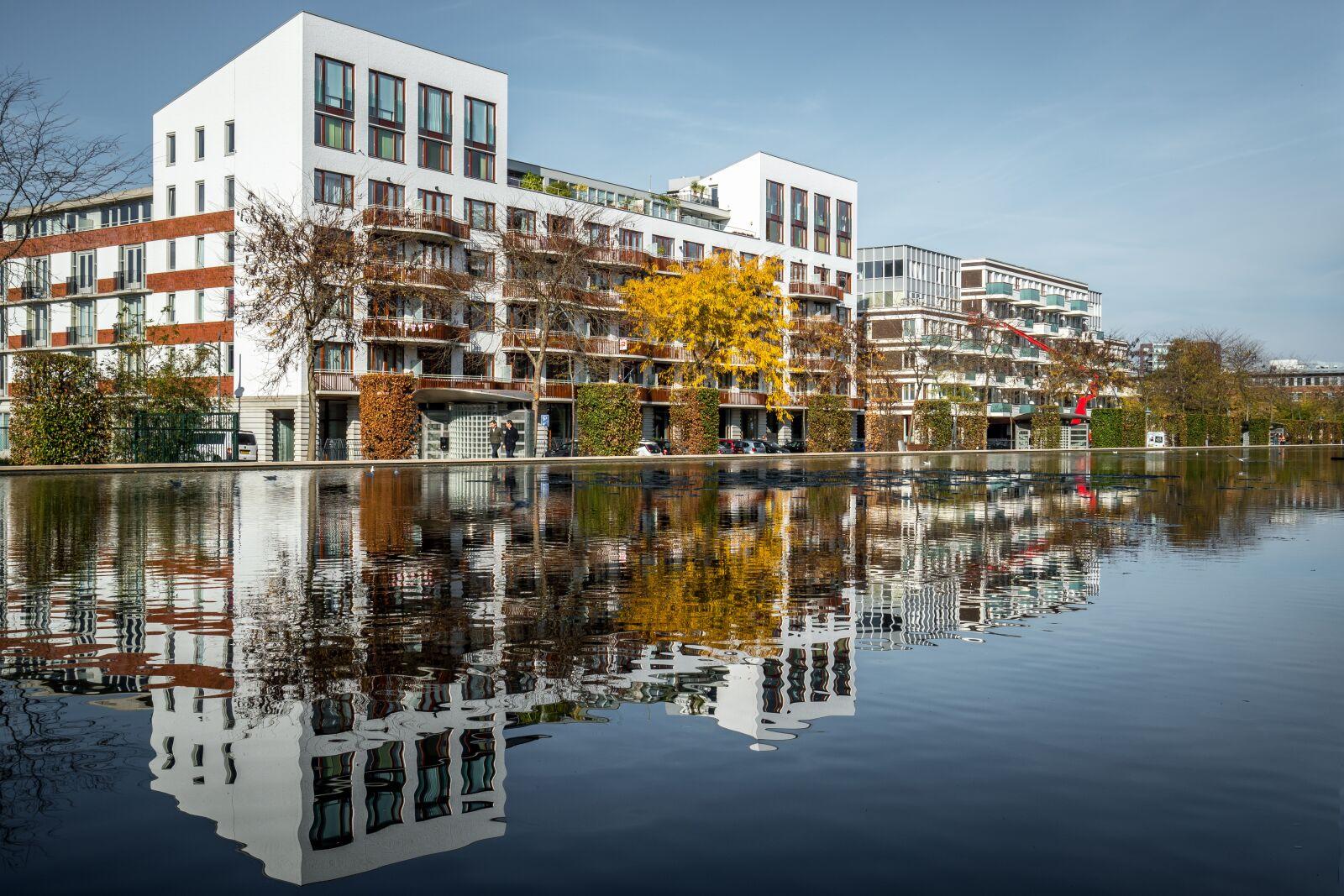 "Sony a6500 sample photo. ""S hertogenbosch, reflexion, apartments"" photography"