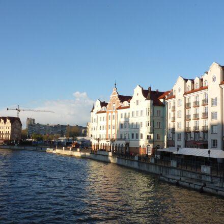 kaliningrad, river, city, Panasonic DMC-FT5