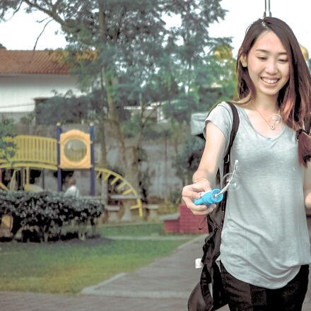 woman, wearing, gray, v, Samsung NX1