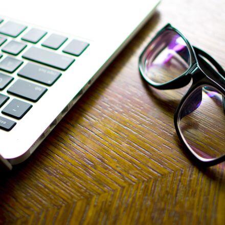 computer, glasses, still life, Pentax K-50