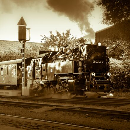 locomotive, train, steam locomotive, Samsung NX300M