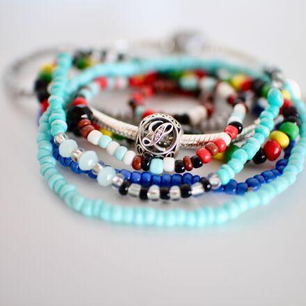 beads, bracelets, letter, Canon EOS M