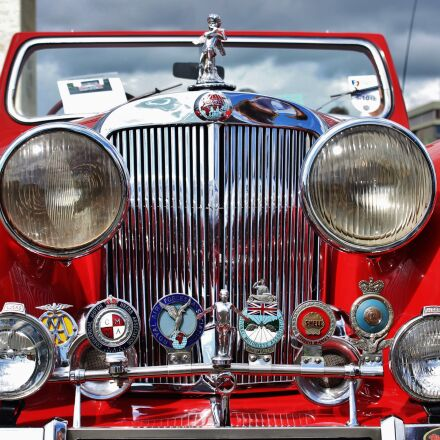 car grill, red, car, Canon EOS 600D