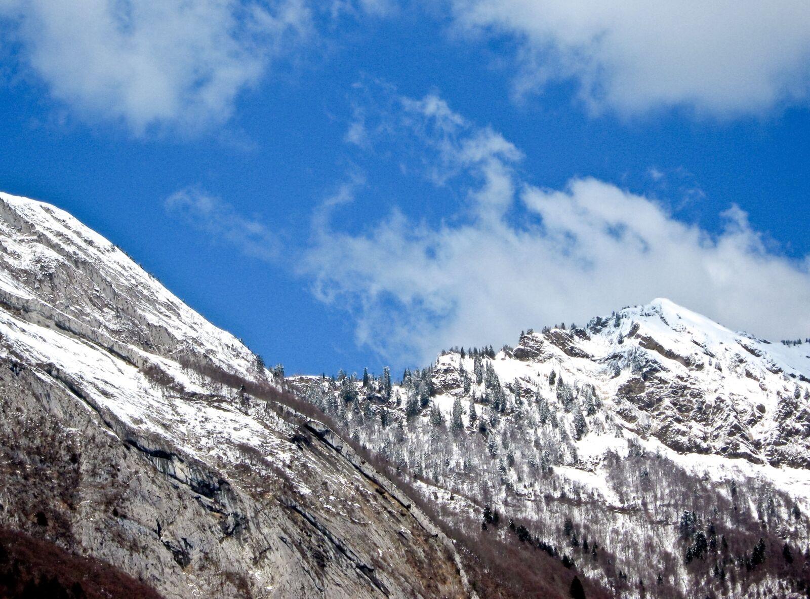 "Canon PowerShot A470 sample photo. ""Alps, mountains, snow"" photography"