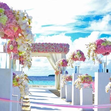 beach, beach, wedding, chairs, Nikon D700