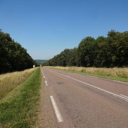 road, field, climb, Sony DSC-WX100