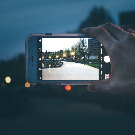 iphone, park, street, Canon EOS REBEL T6I