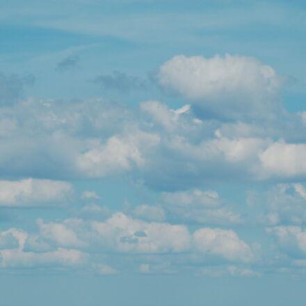 blue, cloud, cumulus, Nikon D50