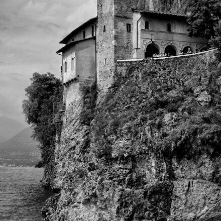 santa caterina, lake, monastery, Fujifilm X-T1