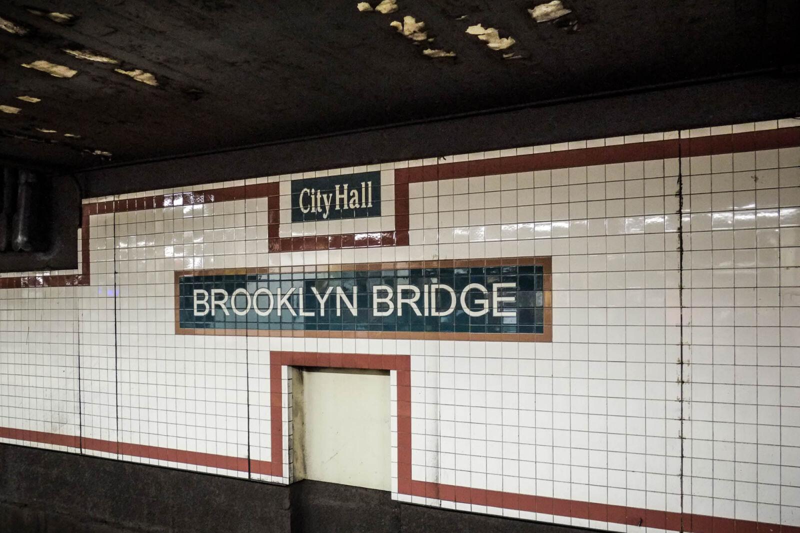 "Fujifilm X-Pro1 sample photo. ""Brooklyn, bridge, subway, station"" photography"