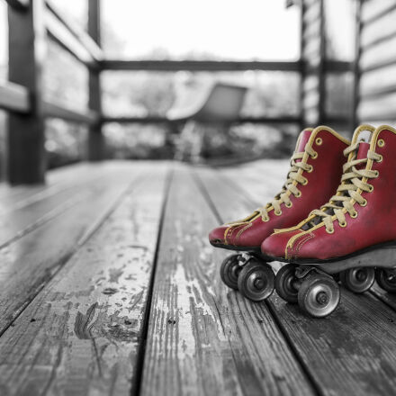 red, vintage, shoes, sport, Canon EOS 6D